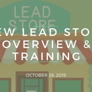 New Lead Store Overview & Training - Team Genesis Training October 26, 2019
