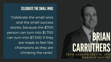 The Best of Brian Carruthers Interview – Celebrate the Small Wins